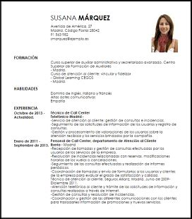 Modelo Curriculum Para Chile Modelo Curriculum Vitae T 233 Cnico De Call Center Livecareer