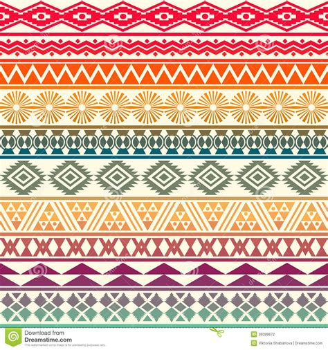 tribal pattern fashion tribal striped seamless pattern stock vector image