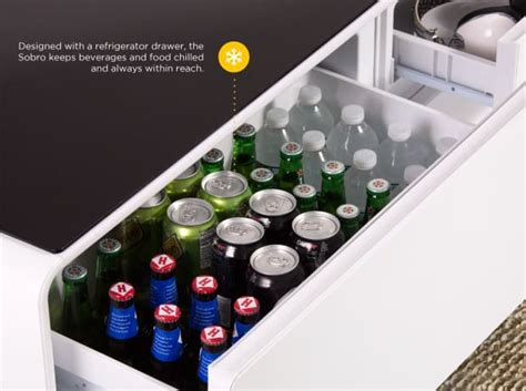 coffee table with built in refrigerator sobro the smart coffee table with a built in fridge and
