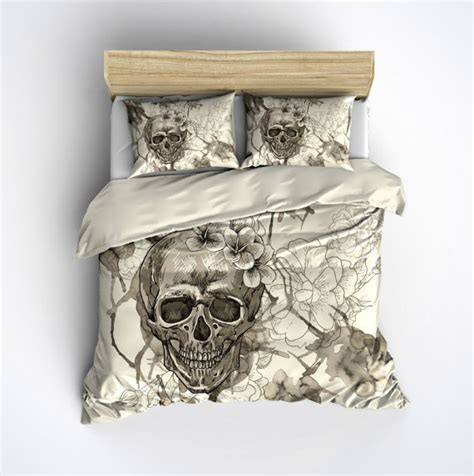 king size skull bedding featherweight skull bedding sugar skull and by inkandrags