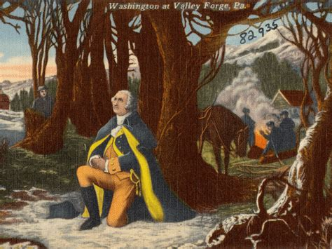 george washingtons heroism  valley forge