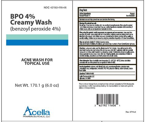 Ga Acne Wash 1 bpo wash complete pack acella pharmaceuticals llc