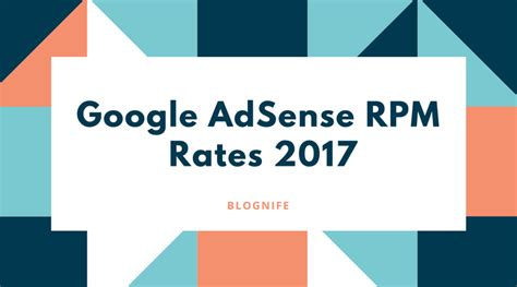 adsense cpm rates google adsense cpm rates 2017 blognife