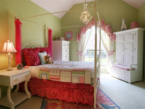 hgtv girls bedroom ideas girl s transitional green bedroom with canopy bed hgtv