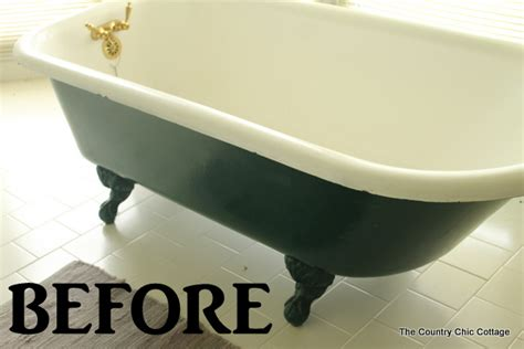 how to paint a bathtub painting a claw foot tub the country chic cottage