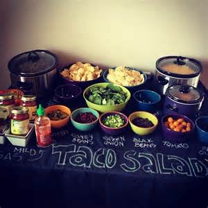 Salad Buffet Table Best 20 Taco Salad Bar Ideas On Taco Salad