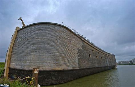 ark boat protection dutchman johan huibers launches life sized noah s ark