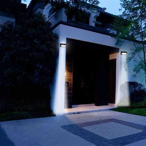 solar powered led outdoor wall light outdoor lighting ideas