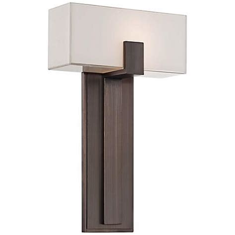 Kovacs Wall Sconce George Kovacs Mitered Glass 10 Quot Copper Bronze Wall Sconce W4789 Www Lsplus