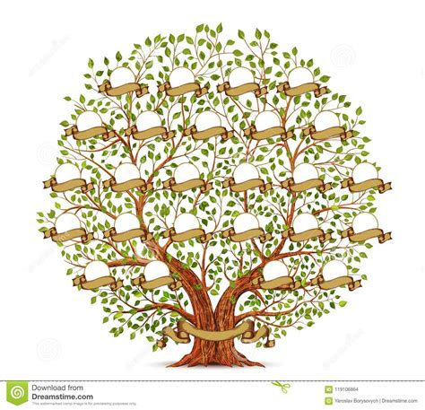 Family Tree Template Vintage Vector Illustration Stock Vector Illustration Of Connection Family Tree Template Vintage Vector