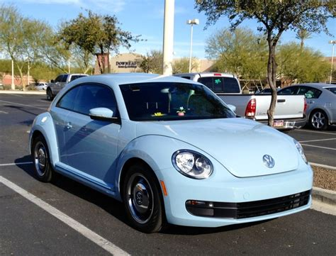 volkswagen bug blue 2013 vw beetle in denim blue love it cars pinterest