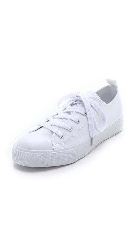 cheap sneakers cheap monday base low top sneakers in white lyst