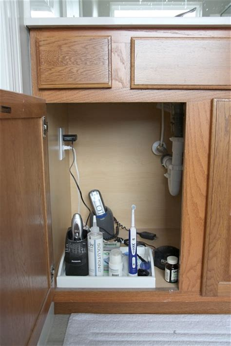bathroom cabinet electrical outlet house tweaking