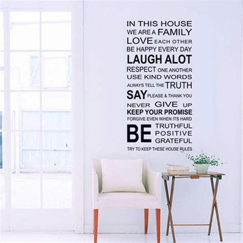 Wall Sticker Kerangka Cinta 1pcs proverbs wall sticker family house wall stickers decal removable decor home