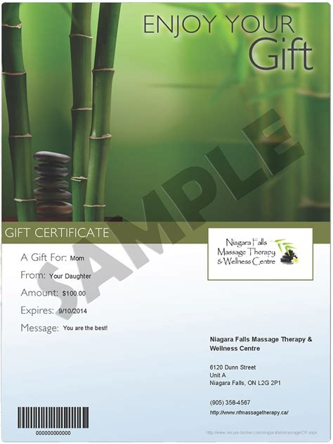 niagara falls therapy wellness centre gift