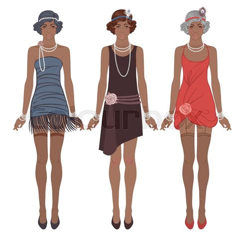 roaring 20s fashion for african americans retro fashion glamour girl of twenties african american