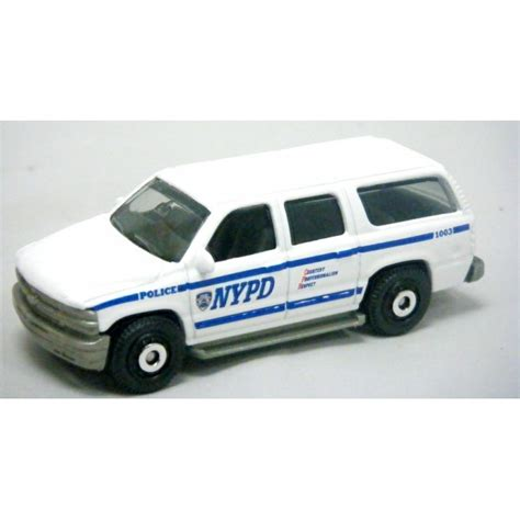 matchbox chevy suburban matchbox nypd chevrolet suburban patrol truck global