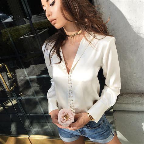 Daun Blouse kaede button blouse