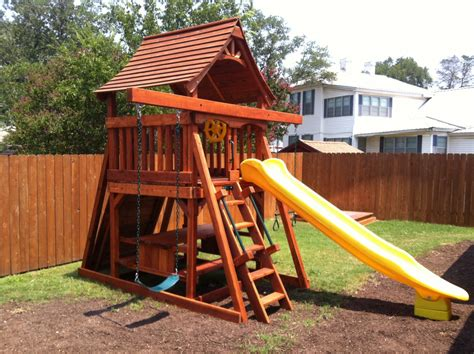 swing sets for small spaces fun shack space saver w rockwall adventures outback