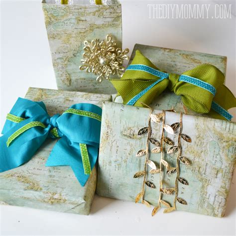 wrapping presents diy vintage map christmas gift wrap and gift bags the diy mommy