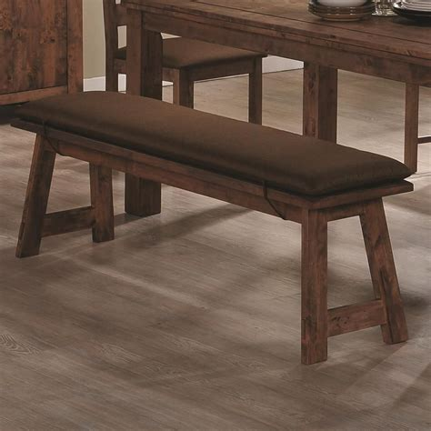 dinning bench coaster maddox 103473 brown wood dining bench in los