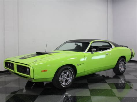 lime green charger lime green 1973 dodge charger for sale mcg marketplace