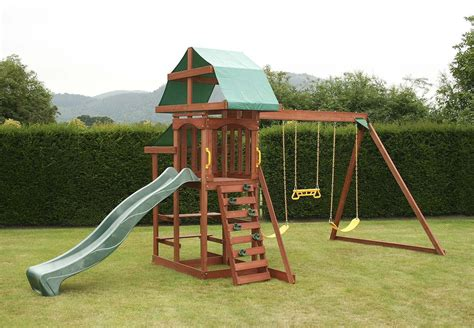 swing climbing frame outdoor swing set garden playground climbing frame kids