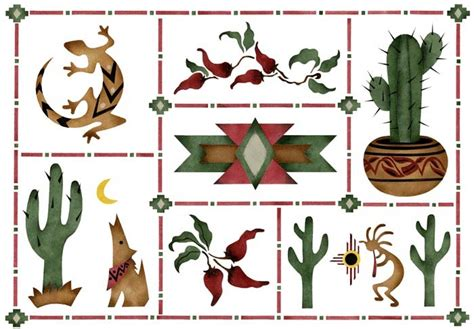 southwestern designs stencil walltowallstencils