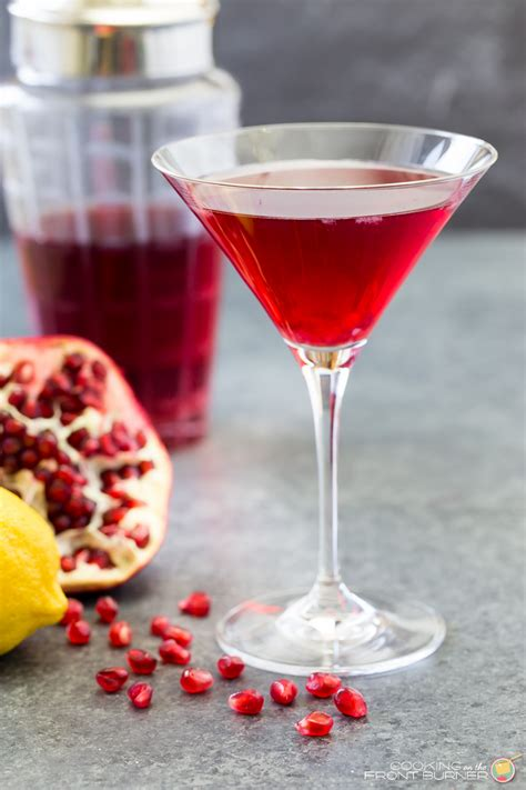 martini pomegranate pomegranate martini cooking on the front burner