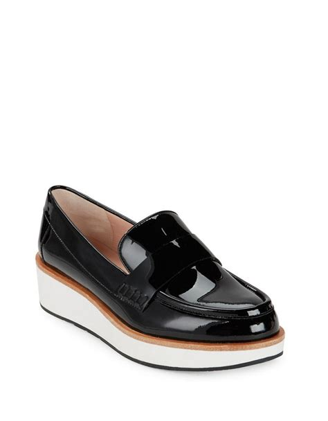 Patent Platform Loafers lyst kate spade new york patent platform loafers