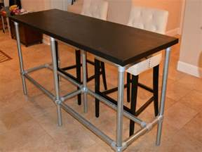 bar table height diy counter height table with pipe legs