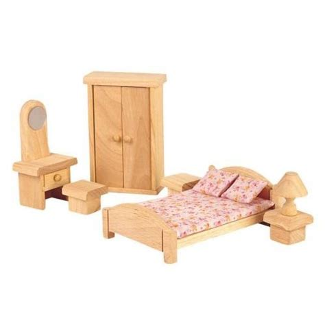 wooden doll houses with furniture wooden dollhouse furniture plan toys classic bedroom