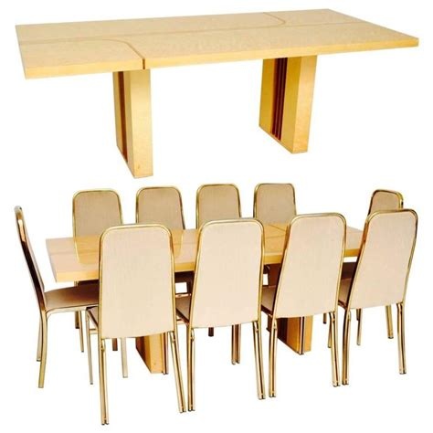 retro italian maple and brass dining table and chairs by retro italian maple and brass dining table and chairs by