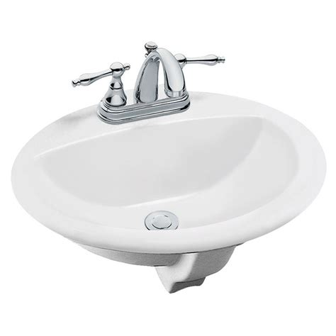 home depot drop in bathroom sinks tierra drop in bathroom sink in white 85400 the home depot
