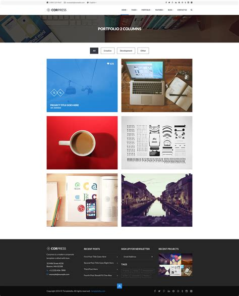 themeforest infographics corpress business and infographics wp theme by createit