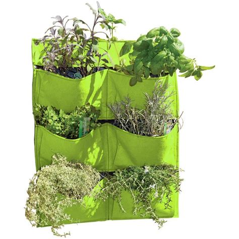 Green Wall Planters by Show Details For Living Wall 6 Pocket Felt Planter Lime Green
