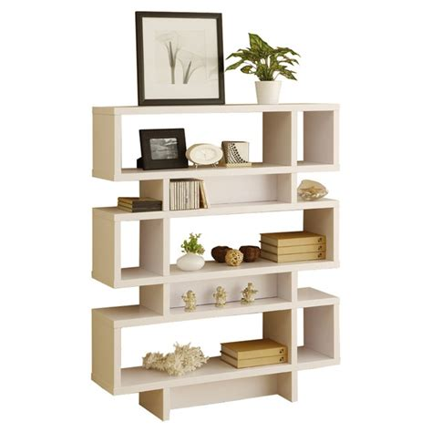 staggered shelf bookcase i really like this clean look