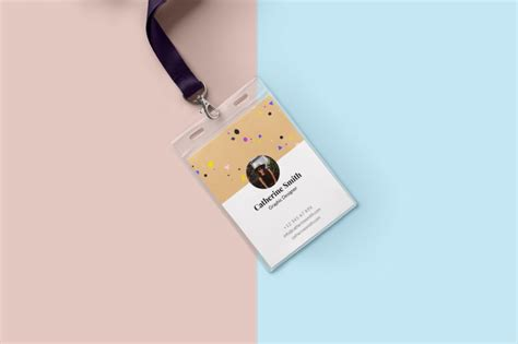 attractive id card design 15 id card mock up psd graphic cloud