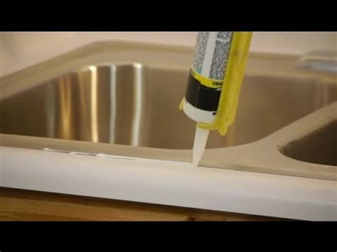 Kitchen Sink Seal How To Caulk Seal A Kitchen Sink On A Laminate Countertop Caulking Tips