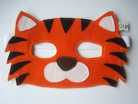How To Make A Tiger Mask Out Of Paper - felt tiger mask felt