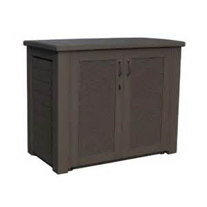 rubbermaid 123 gal bridgeport resin patio cabinet 1863391