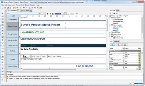 tutorial design studio pentaho pentaho report designer parameter default value definition