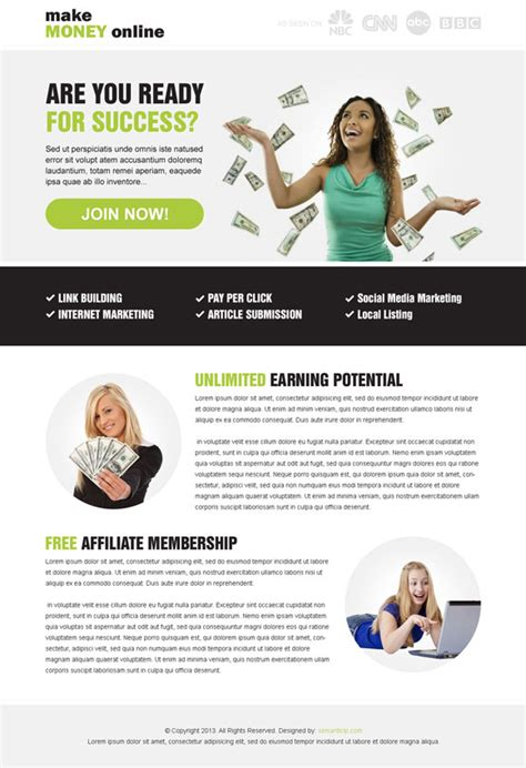 design online and earn money best landing page design exle for conversion sale in 2014