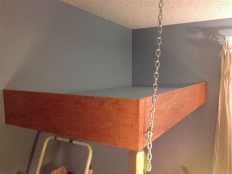 redditor designs stunning hanging loft bed