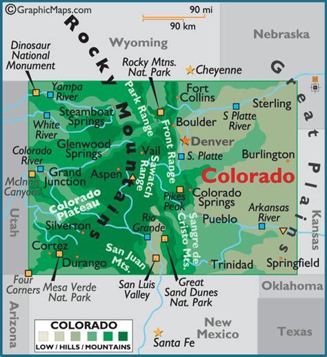 colorado color colorado large color map