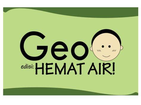 membuat poster hemat air serial komik geo 2 hemat air