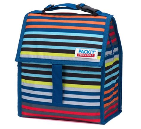 Packit Freezable Carry All Lunch Bag Classic Polka Cooler Bag packit freezable lunch bag with zip closure batik ombre