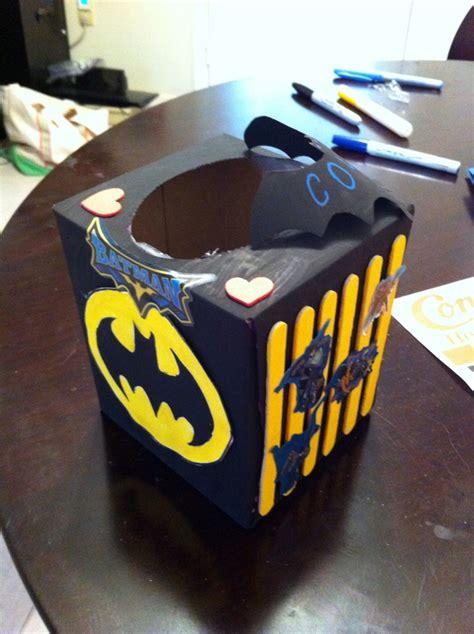 Gamer Boyfriend Box batman box made from a tissue box valentines