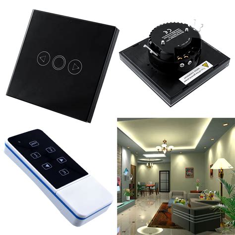 touch switch for led l 1 gang home light led touch remote control dimmer black