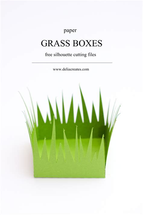 How To Make Grass Out Of Paper - grass paper boxes free cut files